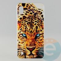 Накладка силиконовая с рисунком для Samsung A10 Леопард