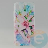 Накладка силиконовая с рисунком для Xiaomi Redmi 7 Цветы