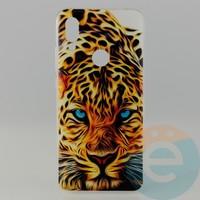 Накладка силиконовая с рисунком для Xiaomi Redmi 7 Леопард