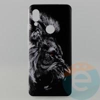 Накладка силиконовая с рисунком для Xiaomi Redmi 7 Лев