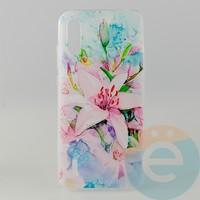 Накладка силиконовая с рисунком для Xiaomi CC9/Mi A3 Lite Цветы