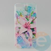 Накладка силиконовая с рисунком для Huawei Y6 2018 Цветы