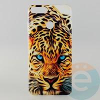 Накладка силиконовая с рисунком для Huawei Y6 2018 Леопард