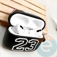 Чехол силиконовый для наушников Apple AirPods Pro Jordan чёрный