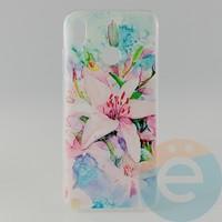 Накладка силиконовая с рисунком для Huawei P-Smart 2019/Honor 10 Lite Цветы