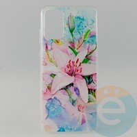 Накладка силиконовая с рисунком для Samsung S11\S20 Plus Цветы