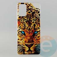 Накладка силиконовая с рисунком для Samsung S11\S20 Plus Леопард