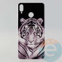 Накладка силиконовая с рисунком для Huawei Honor 8x Тигр