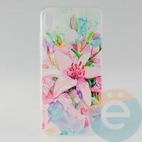 Накладка силиконовая с рисунком для Huawei Honor 8x Цветы