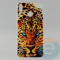 Накладка силиконовая с рисунком для Huawei Honor 8x Леопард