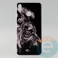 Накладка силиконовая с рисунком для Huawei Honor 8x Лев