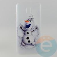 Накладка силиконовая с рисунком для Xiaomi Redmi 8A Снеговик Олаф