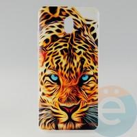 Накладка силиконовая с рисунком для Xiaomi Redmi 8A Леопард