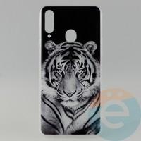 Накладка силиконовая с рисунком для Samsung A20s Тигр