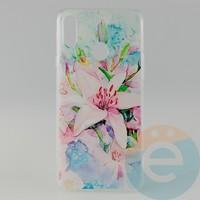 Накладка силиконовая с рисунком для Samsung A20s Цветы