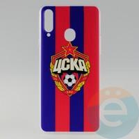 Накладка силиконовая с рисунком для Samsung A20s ЦСКА