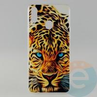 Накладка силиконовая с рисунком для Samsung A20s Леопард