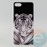 Накладка силиконовая с рисунком для Huawei Y5 2018 Тигр