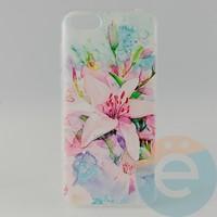Накладка силиконовая с рисунком для Huawei Y5 2018 Цветы