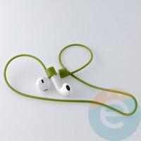 Шнурок силиконовый для Apple Airpods болотный