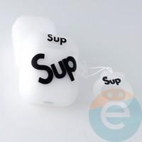 Чехол силиконовый для наушников Apple AirPods Pro Supreme белый