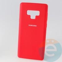 Накладка Silicone cover на Samsung Galaxy Note 9 красная 14