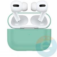 Чехол силиконовый для наушников Apple AirPods Pro с карабином Midnight Green