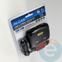 Автомобильное зарядное устройство разветвитель IN-CAR 1512