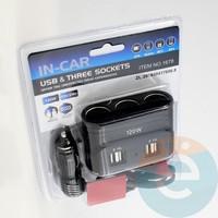 Автомобильное зарядное устройство разветвитель IN-CAR 1678