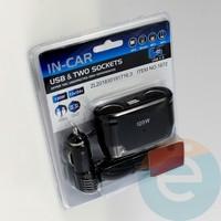 Автомобильное зарядное устройство разветвитель IN-CAR 1672