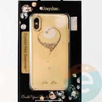Накладка Kingxbar Crystals from Swarovski для Apple IPhone X/Xs No.15745