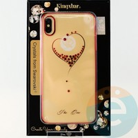 Накладка Kingxbar Crystals from Swarovski для Apple IPhone XS Max No.15750