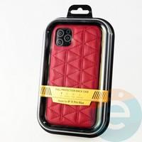 Накладка Kajsa для Apple IPhone 11 Pro Max стеганная красная