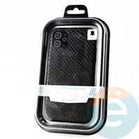 Накладка Kajsa для Apple IPhone 11 змеиная кожа чёрная