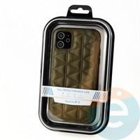 Накладка Kajsa для Apple IPhone 11 стеганная коричневая