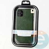 Накладка Kajsa для Apple IPhone 11 кожаная зеленая