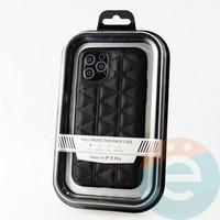 Накладка Kajsa для Apple IPhone 11 Pro стеганная чёрная