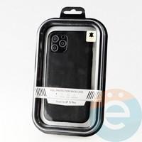 Накладка Kajsa для Apple IPhone 11 Pro кожаная чёрная