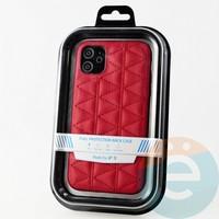 Накладка Kajsa для Apple IPhone 11 стеганная красная