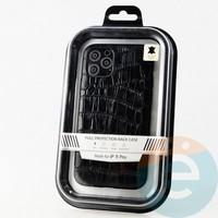 Накладка Kajsa для Apple IPhone 11 Pro крокодиловая черная