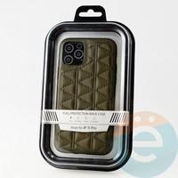 Накладка Kajsa для Apple IPhone 11 Pro стеганная коричневая