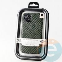 Накладка Kajsa для Apple IPhone 11 Pro змеиная кожа зеленая