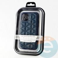 Накладка Kajsa для Apple IPhone 11 Pro стеганная синяя