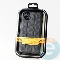 Накладка Kajsa для Apple IPhone 11 Pro Max стеганная чёрная
