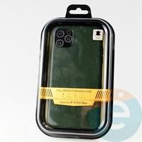 Накладка Kajsa для Apple IPhone 11 Pro Max кожаная зеленая