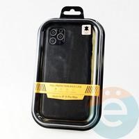 Накладка Kajsa для Apple IPhone 11 Pro Max кожаная чёрная