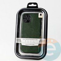 Накладка Kajsa для Apple IPhone 11 Pro кожаная зеленая