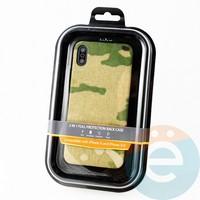 Накладка Kajsa для Apple IPhone X/Xs камуфляж пустыня