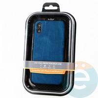 Накладка Kajsa для Apple IPhone X/Xs холст синий