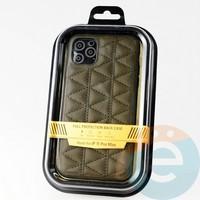 Накладка Kajsa для Apple IPhone 11 Pro Max стеганная коричневая
